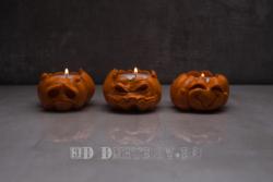 Хэллоуинские тыквы подсвечники